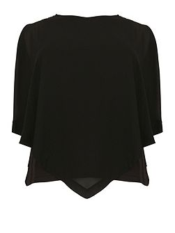 Plus Size Layered Sheer Top