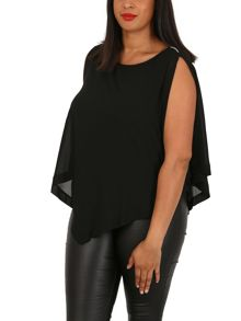 Samya Plus Size Layered Sheer Top