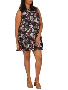 Samya Plus Size Floral Drop Waist Dress