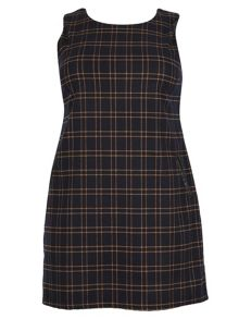 Samya Plus Size Tartan Print Shift Dress