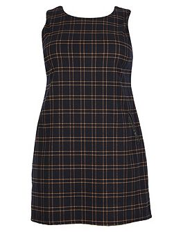 Plus Size Tartan Print Shift Dress