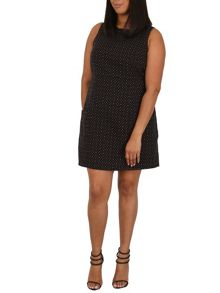 Samya Plus Size Dotted Shift Dress