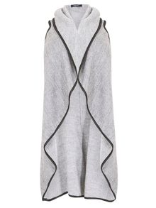 Samya Plus Size Long-Line Dipped Hem Cardigan