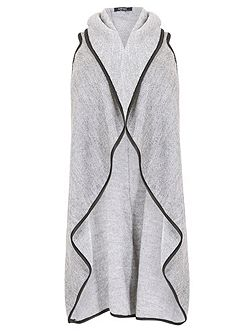 Plus Size Long-Line Dipped Hem Cardigan