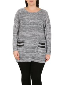 Samya Plus Size Pocket Trim Comfort Top