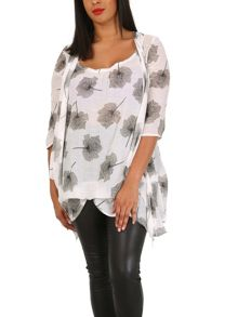 Samya Plus Size Floral Tunic Dress