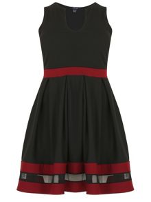 Samya Plus Size Feature Trim Skater Dress
