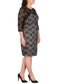 Samya Plus Size Mid-Length Lace Dress