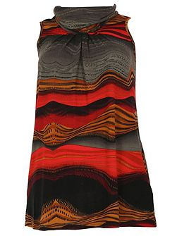 Plus Size Abstract Print Tunic