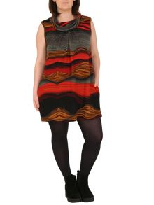 Samya Plus Size Abstract Print Tunic