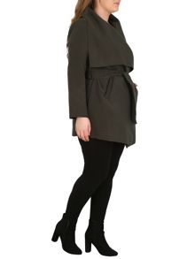 Samya Plus Sized Wraparound Winter Jacket