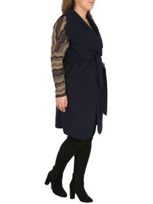 Samya Plus Sized Waterfall Collar Jacket
