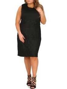Samya Plus Size Laced Skirt Pencil Dress