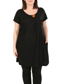 Samya Plus Size Oversized Button Detail Top