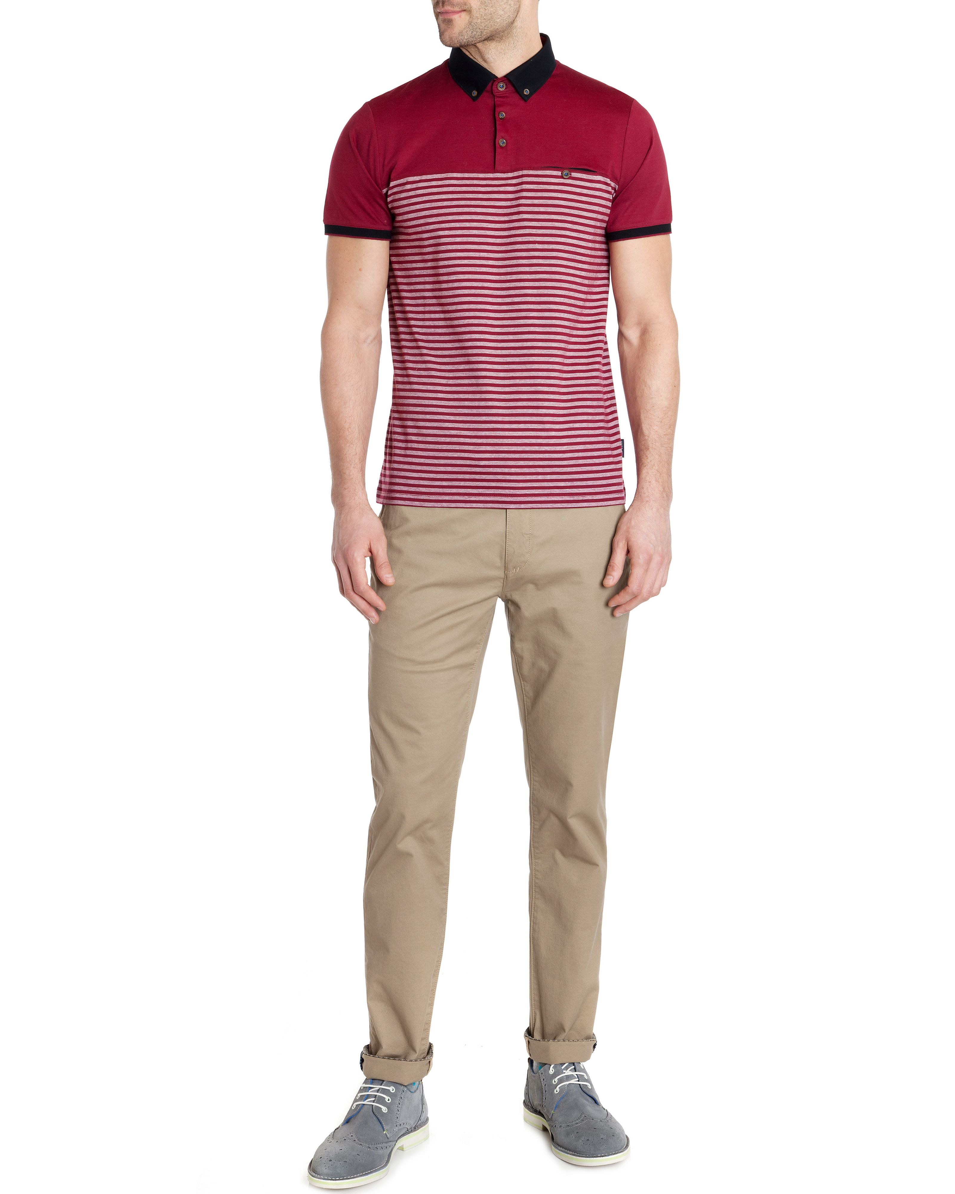 Sunnset striped polo