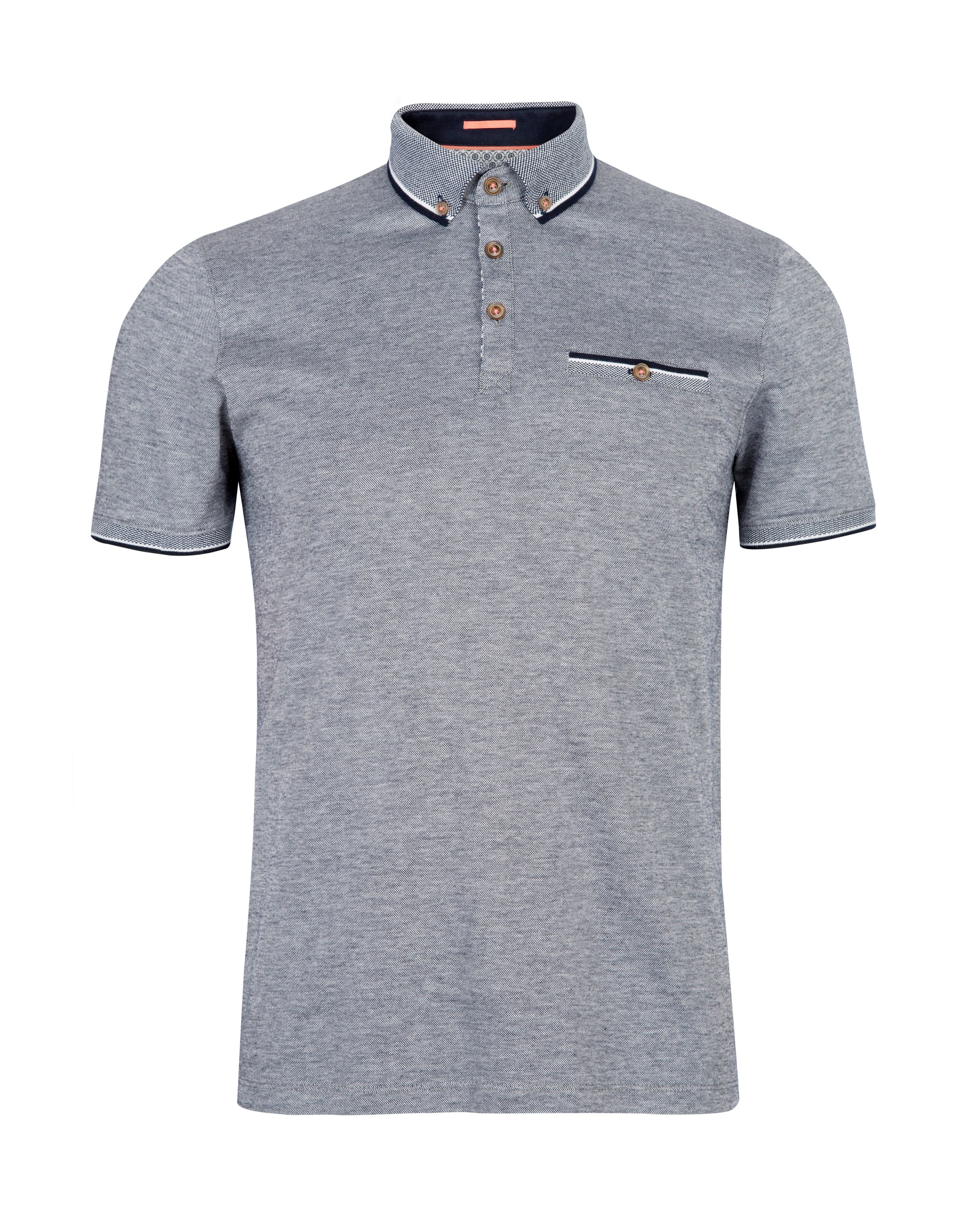 Ashland contrast collar polo shirt