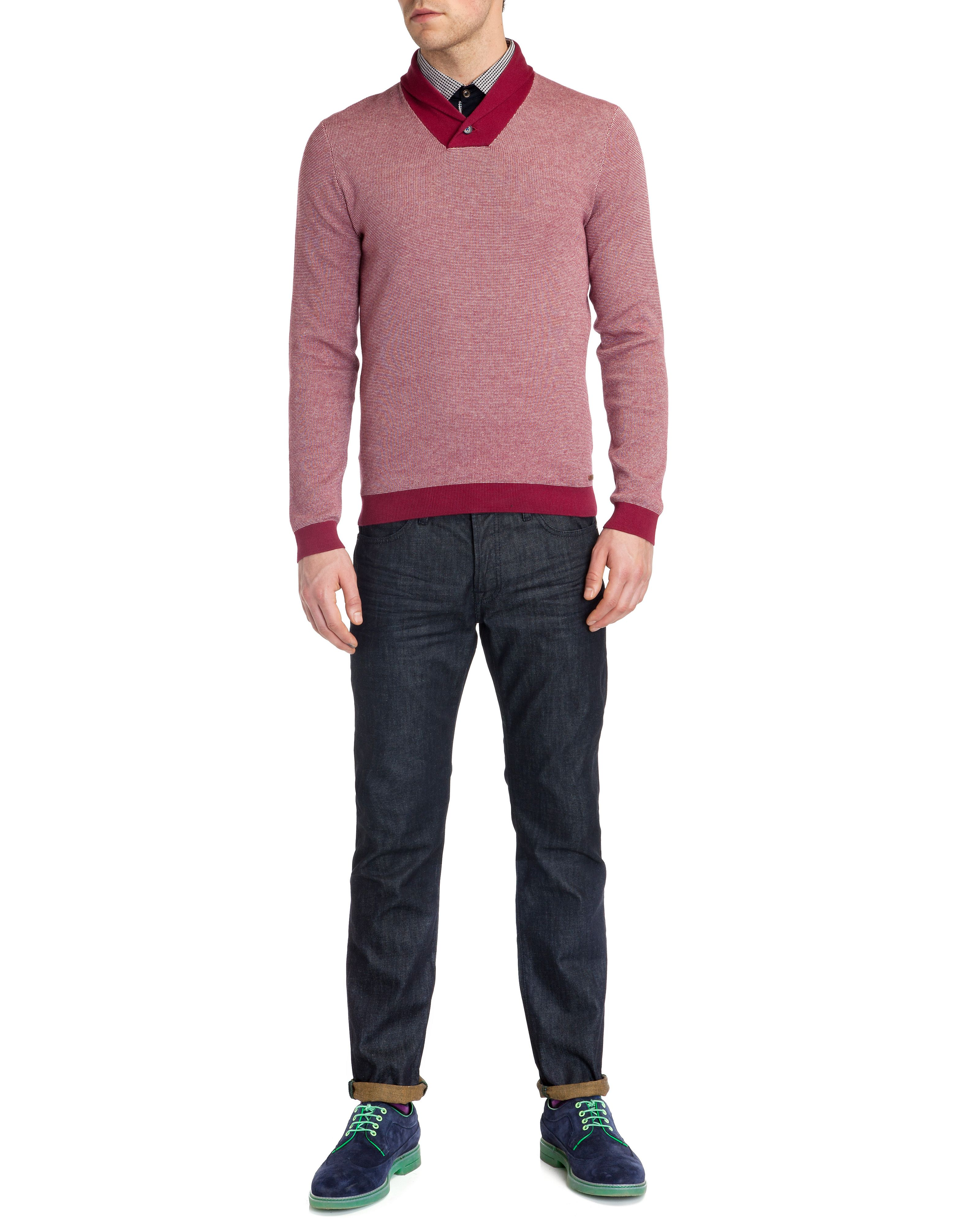 Hortie shawl neck top