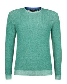 Tenis plated crew neck knit