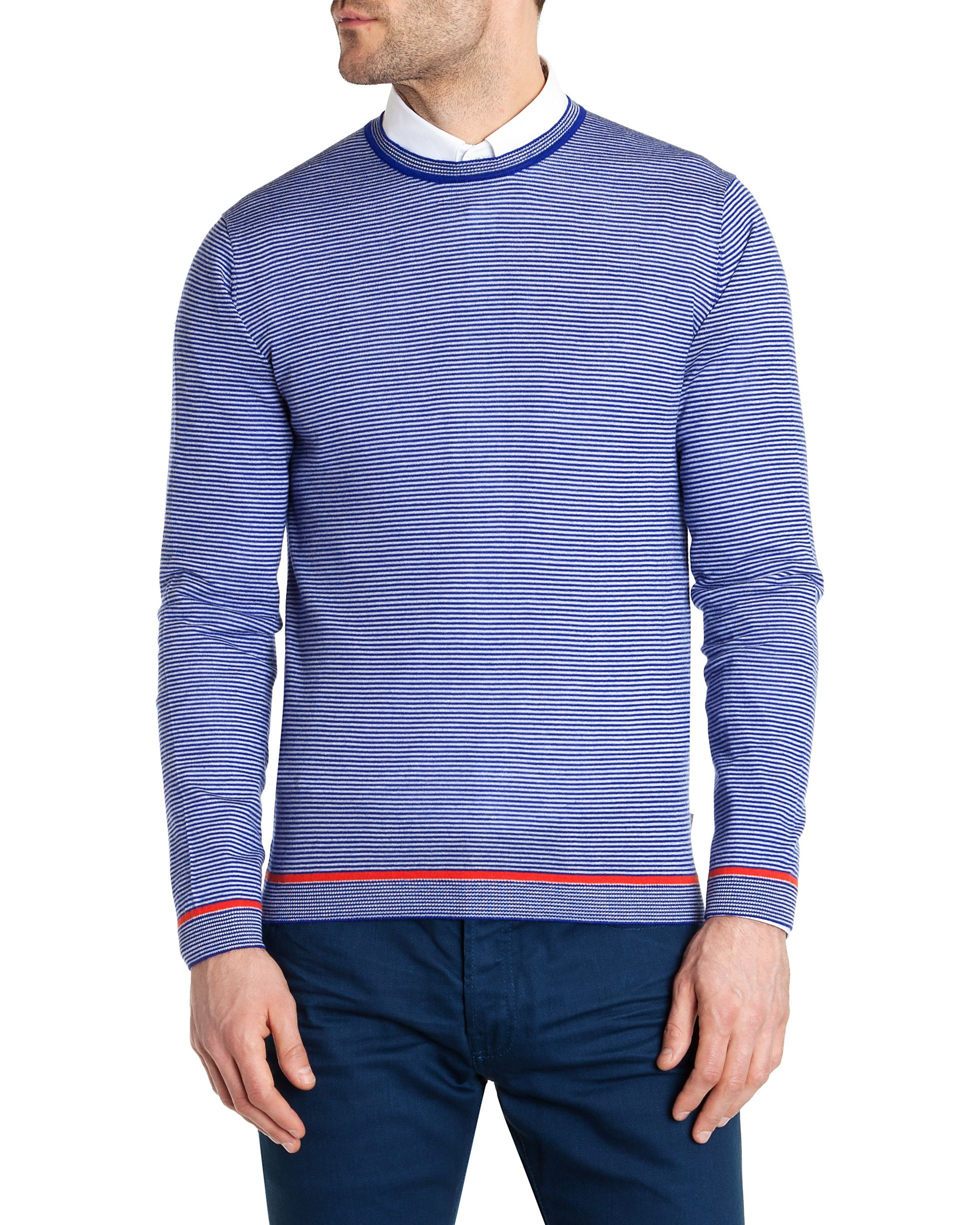 Tenkay striped crew neck jumper