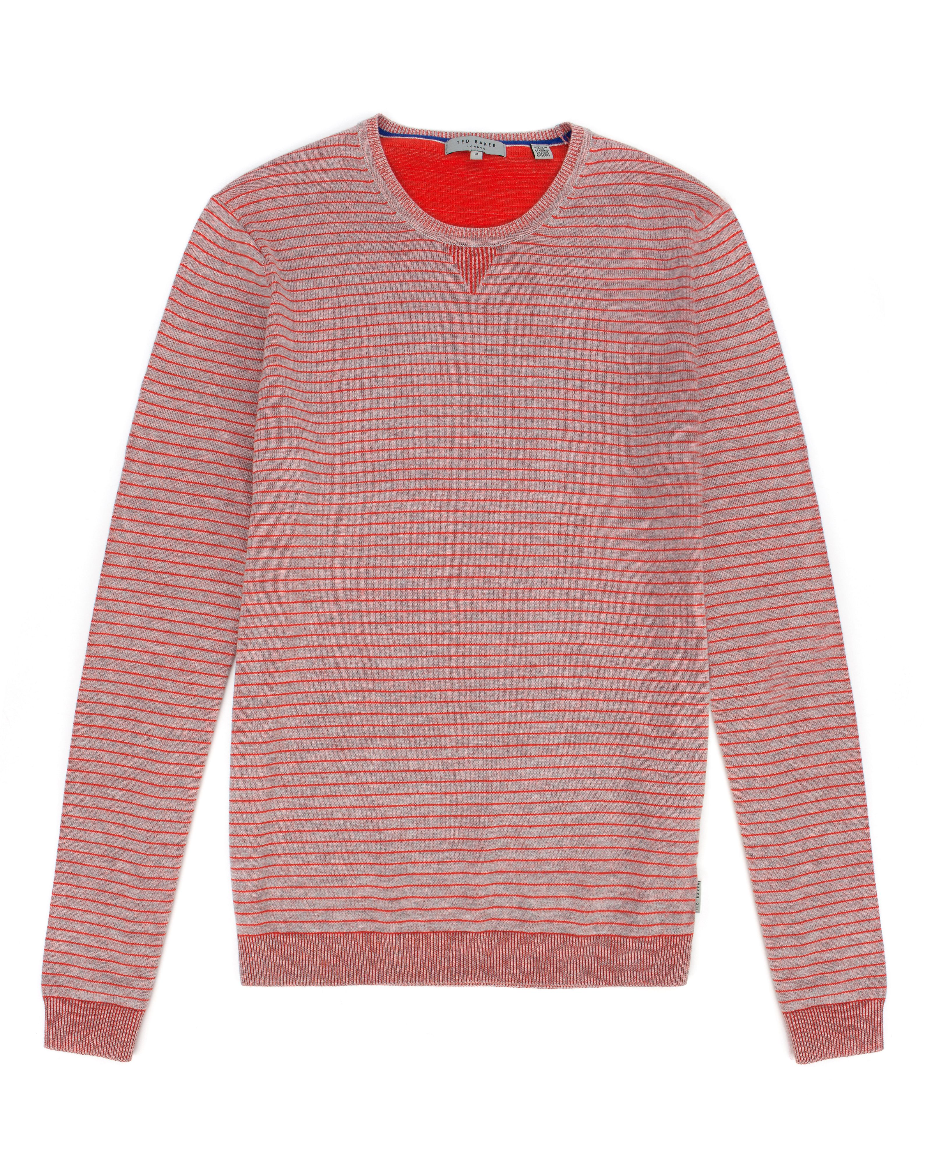 Tonebag stripe crew neck jumper