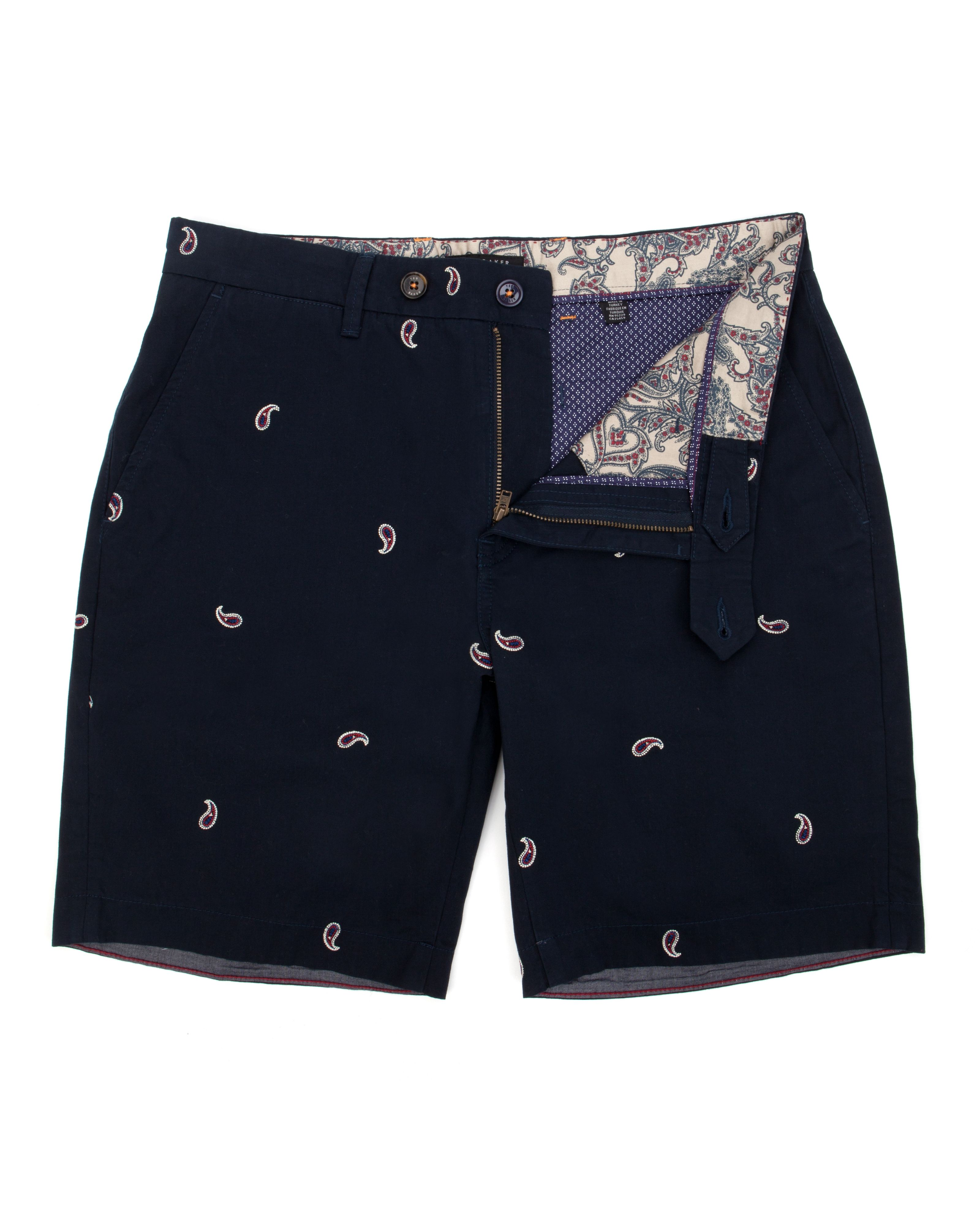 Paisyay paisley embroidered shorts