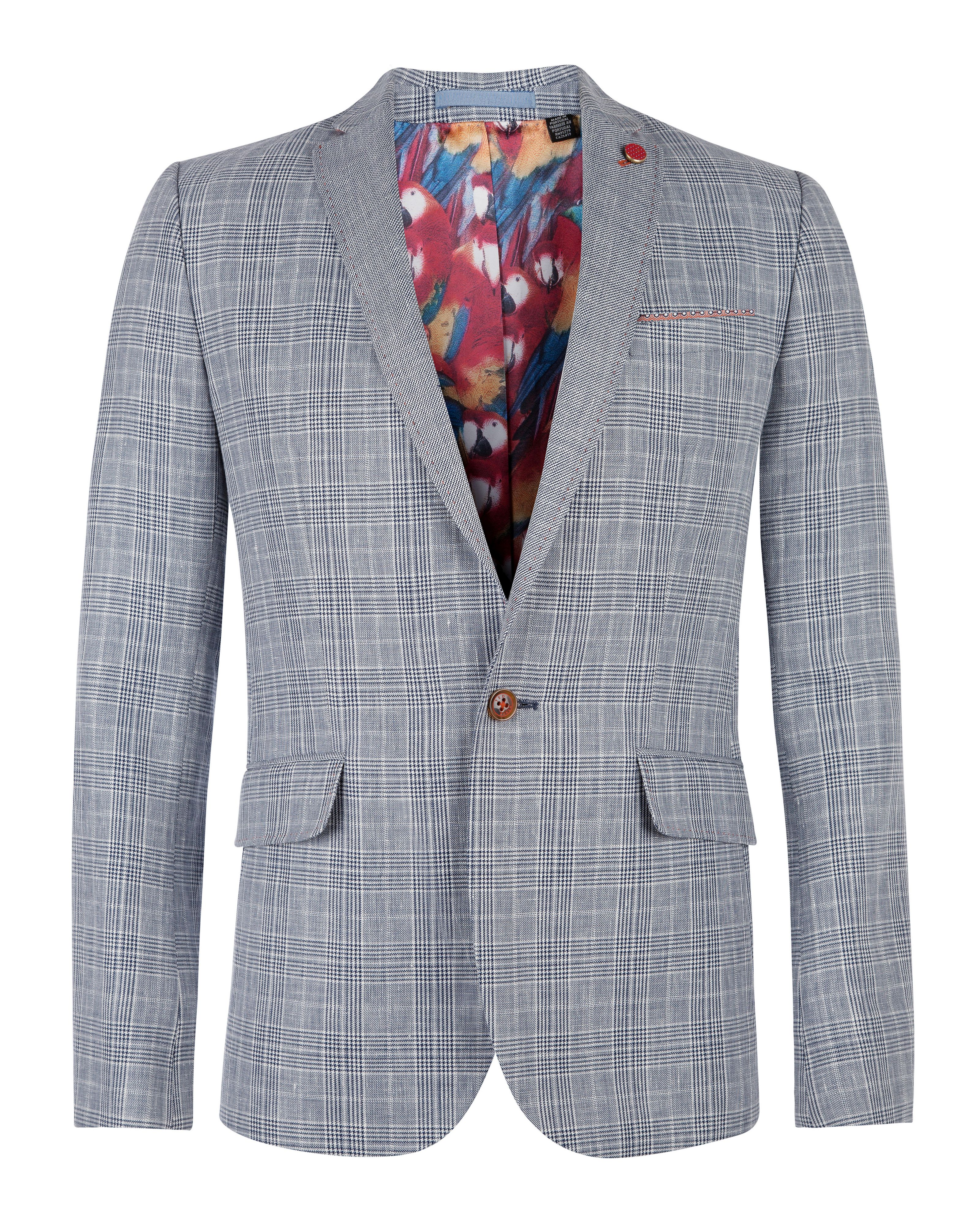 Eower check blazer