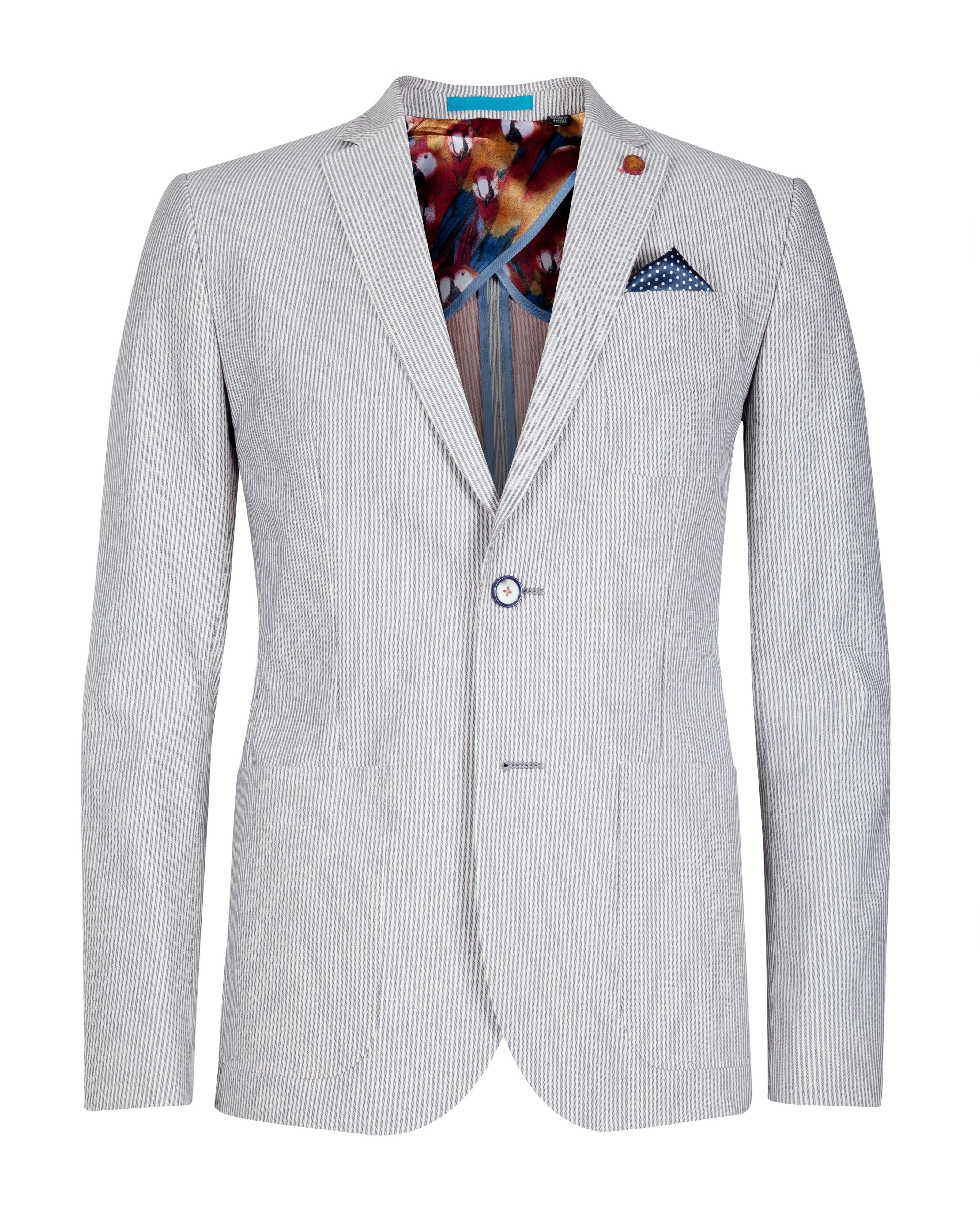 Grima cotton stiped blazer