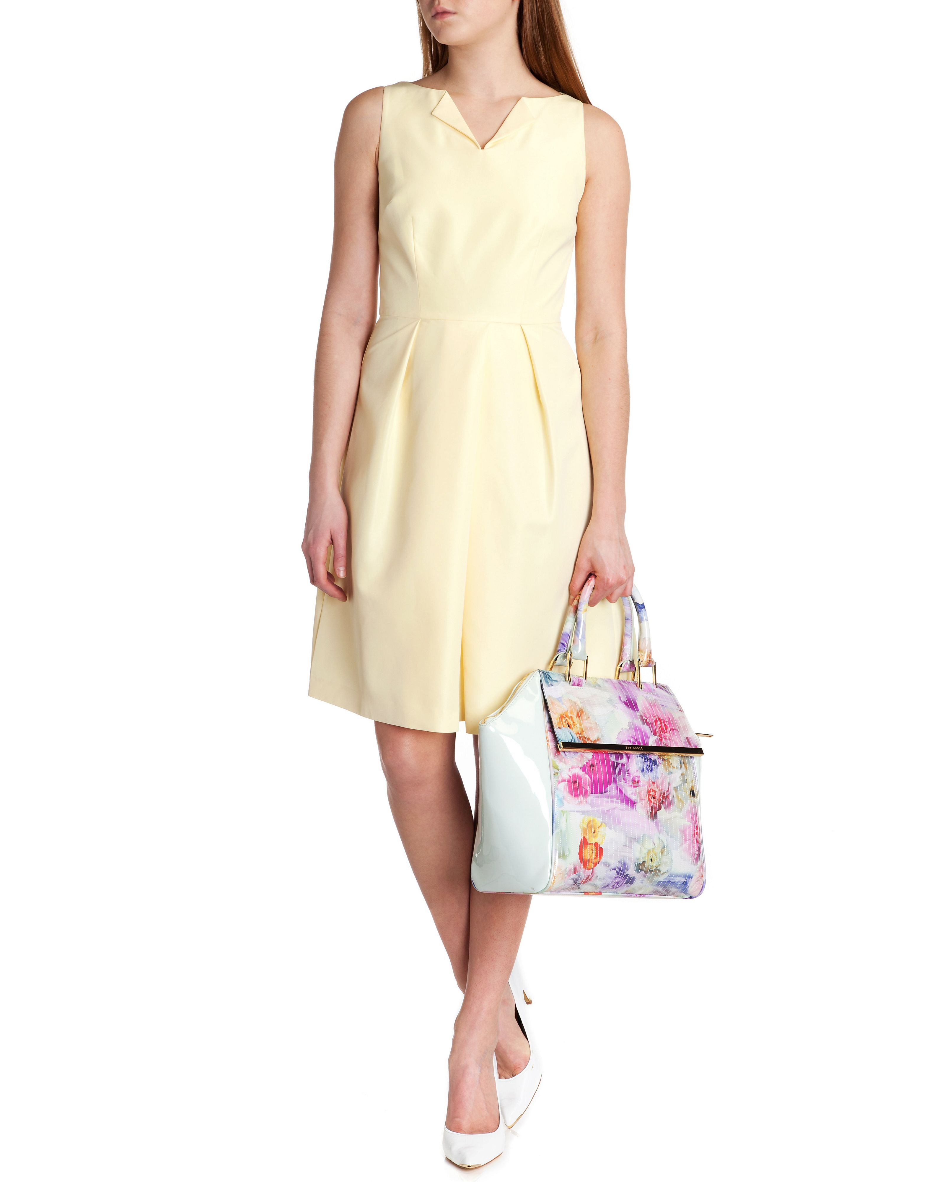 Halina high neck dress