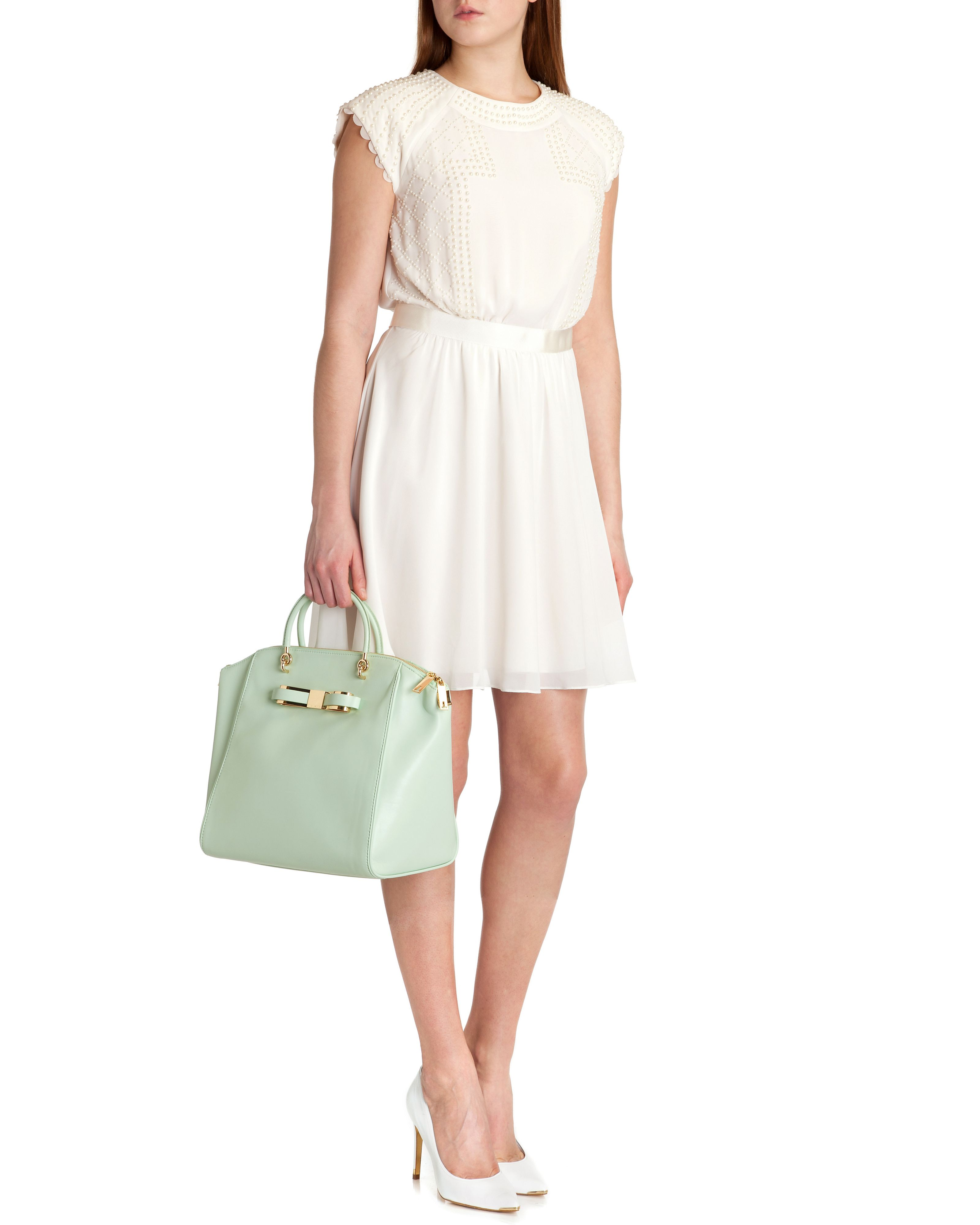 Milana pearl sleeve dress