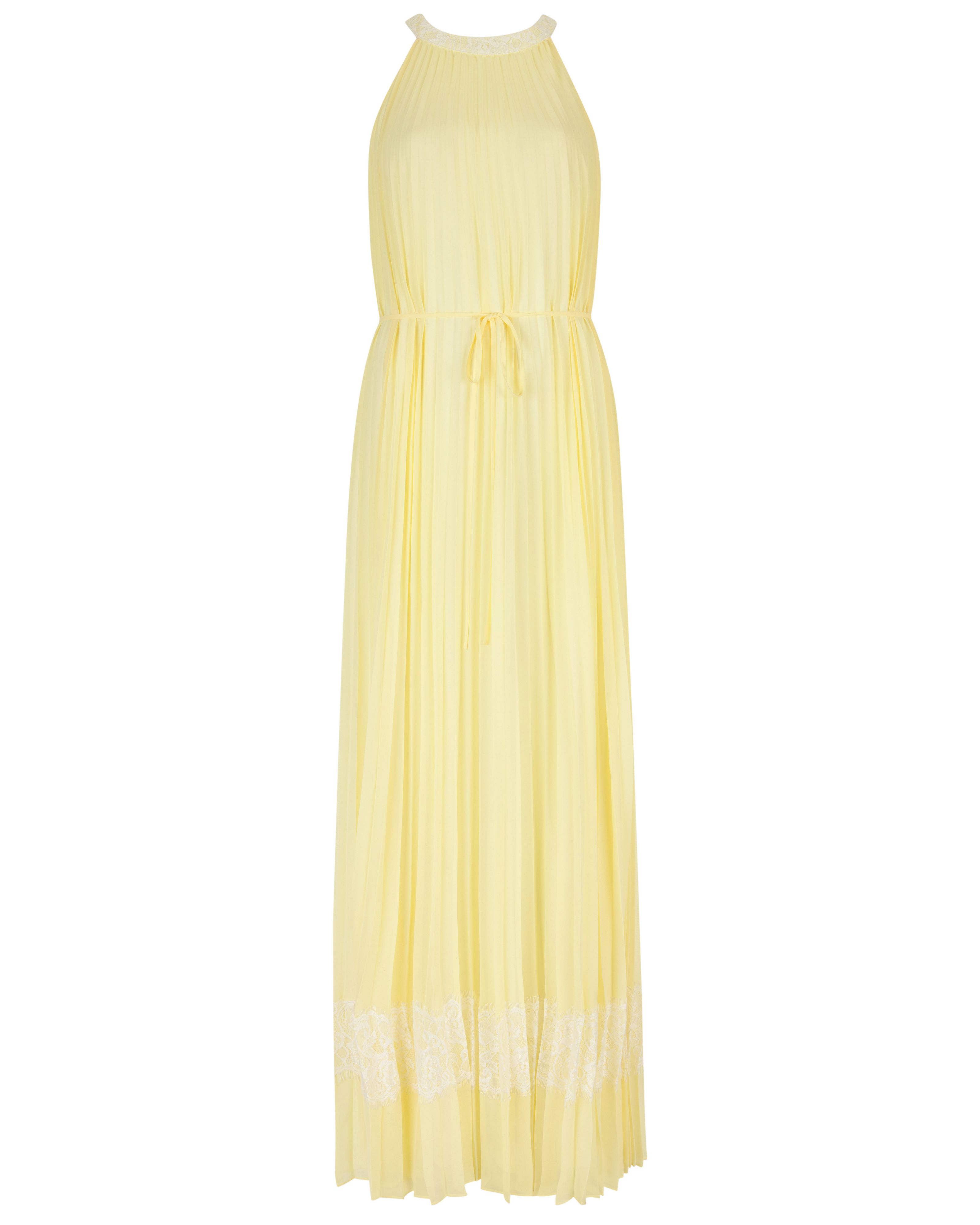 Marryy pleated panel maxi dress