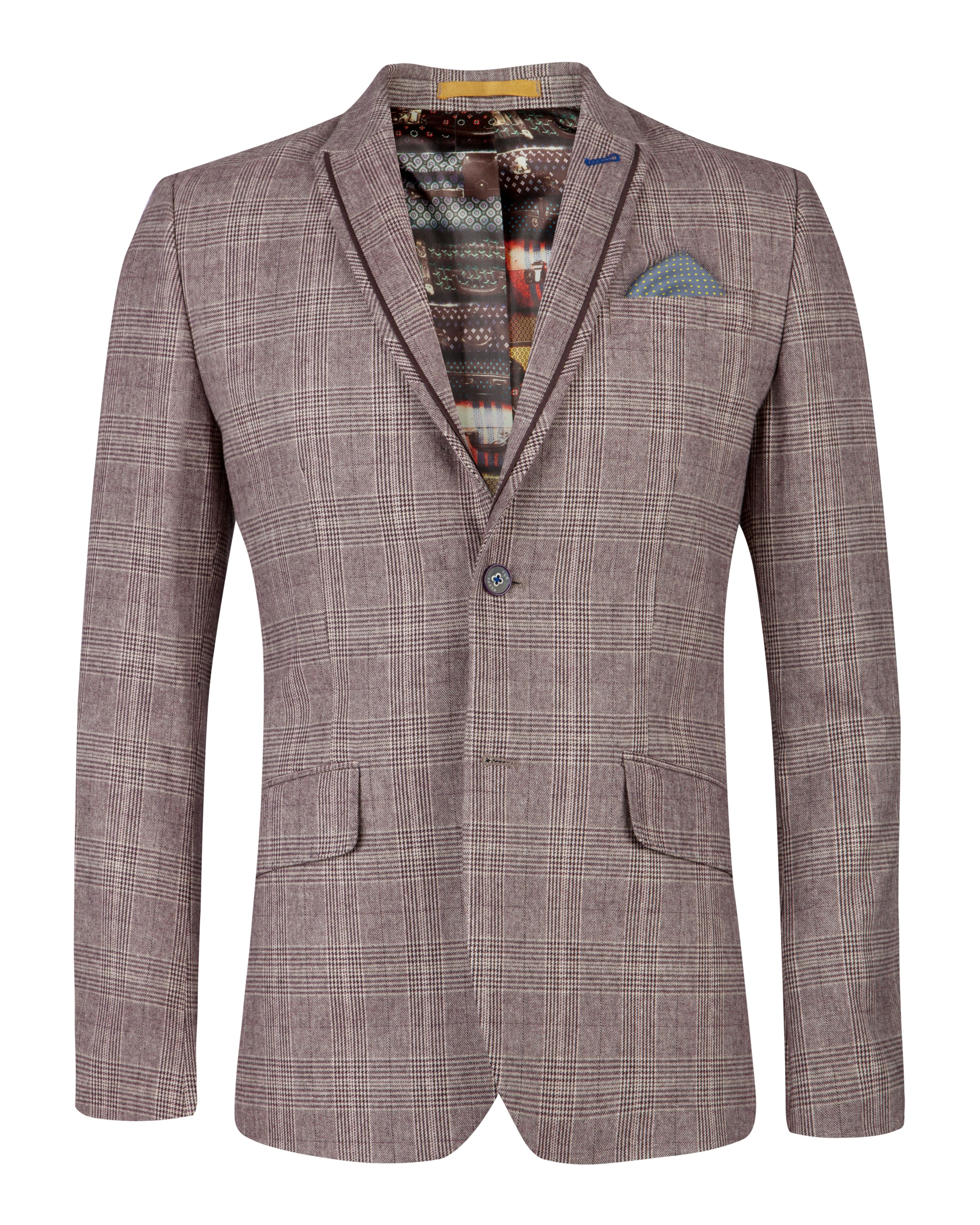 Arwan check cotton blazer