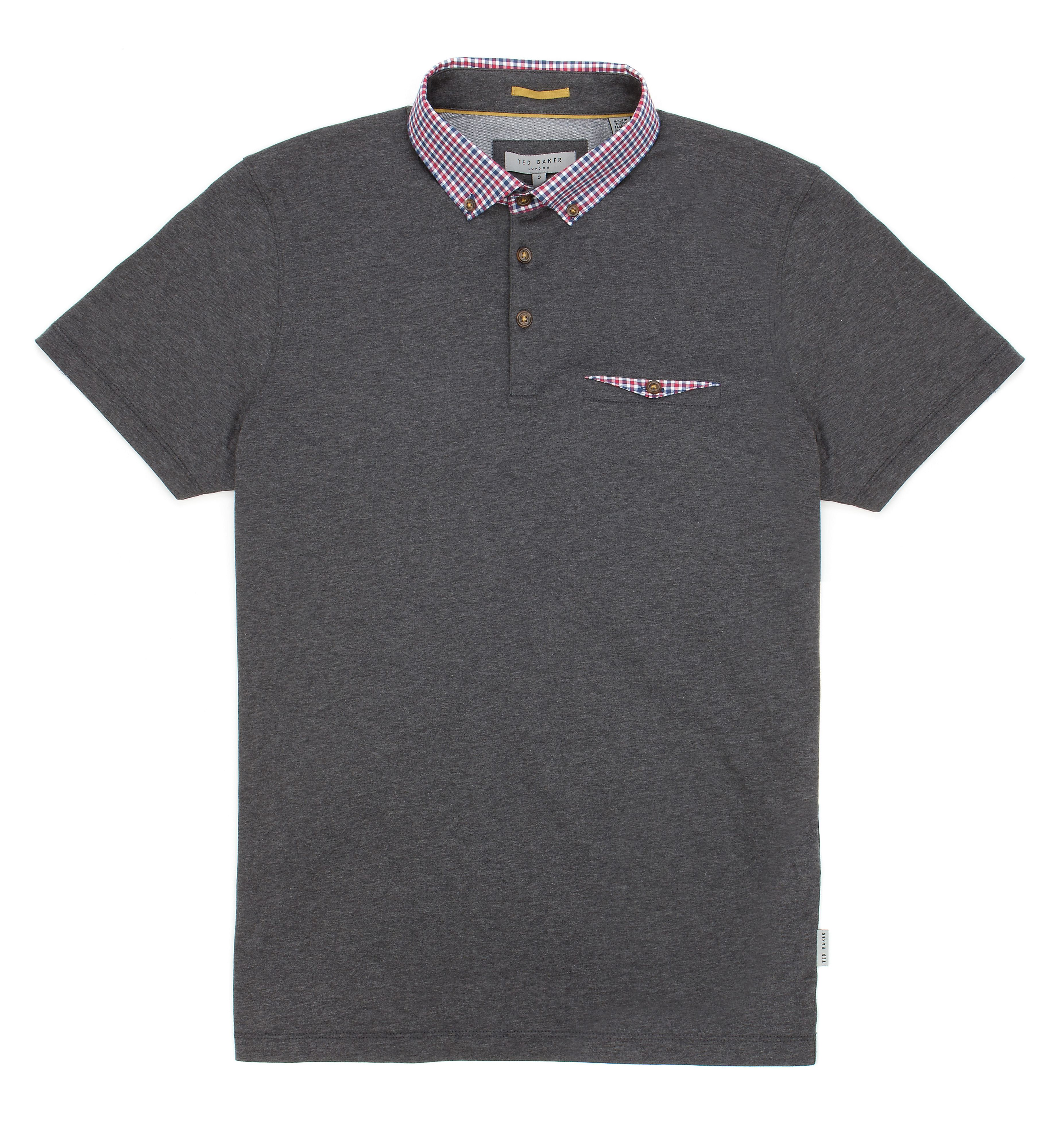 Outchek check collar polo