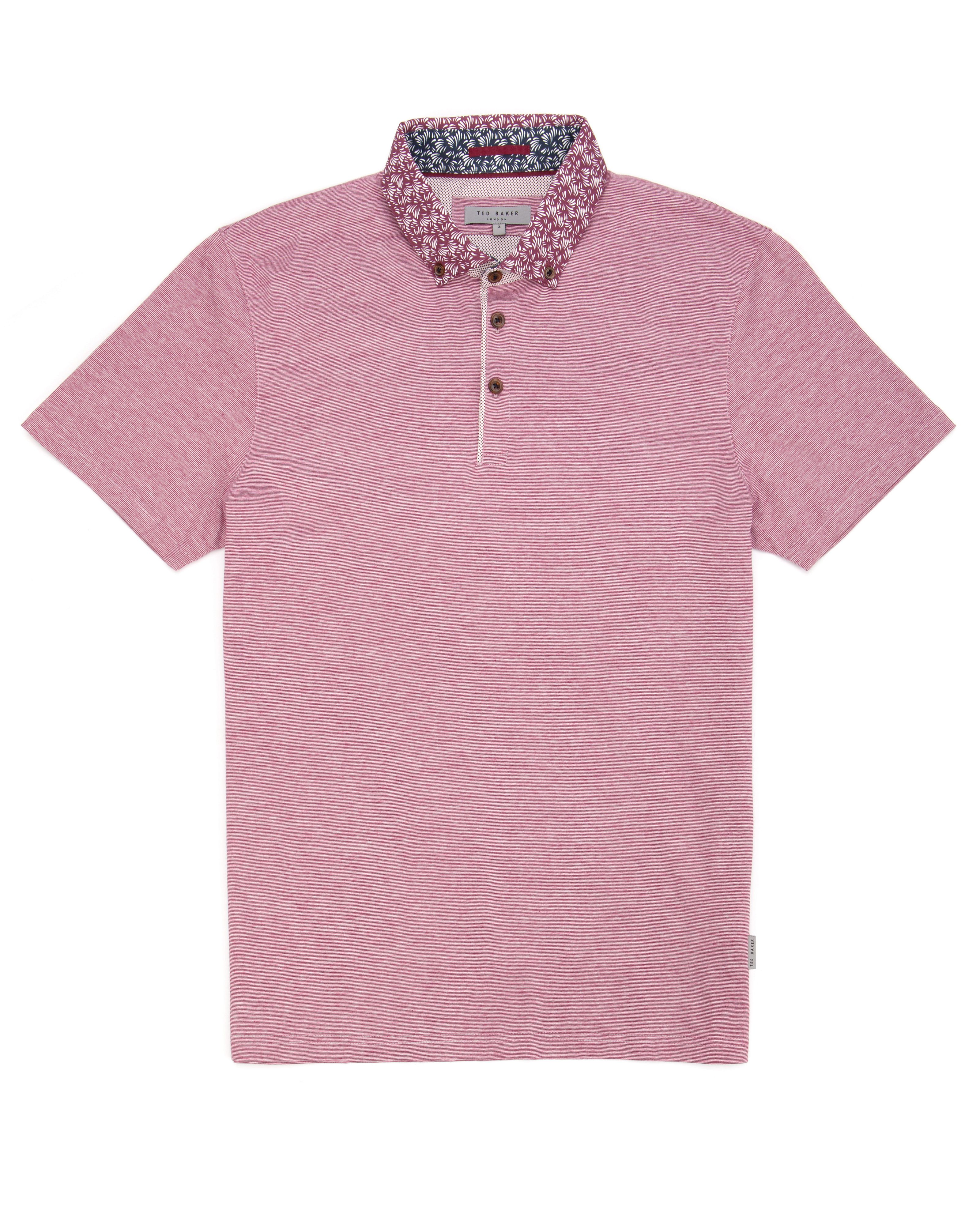 Veniz printed collar polo shirt