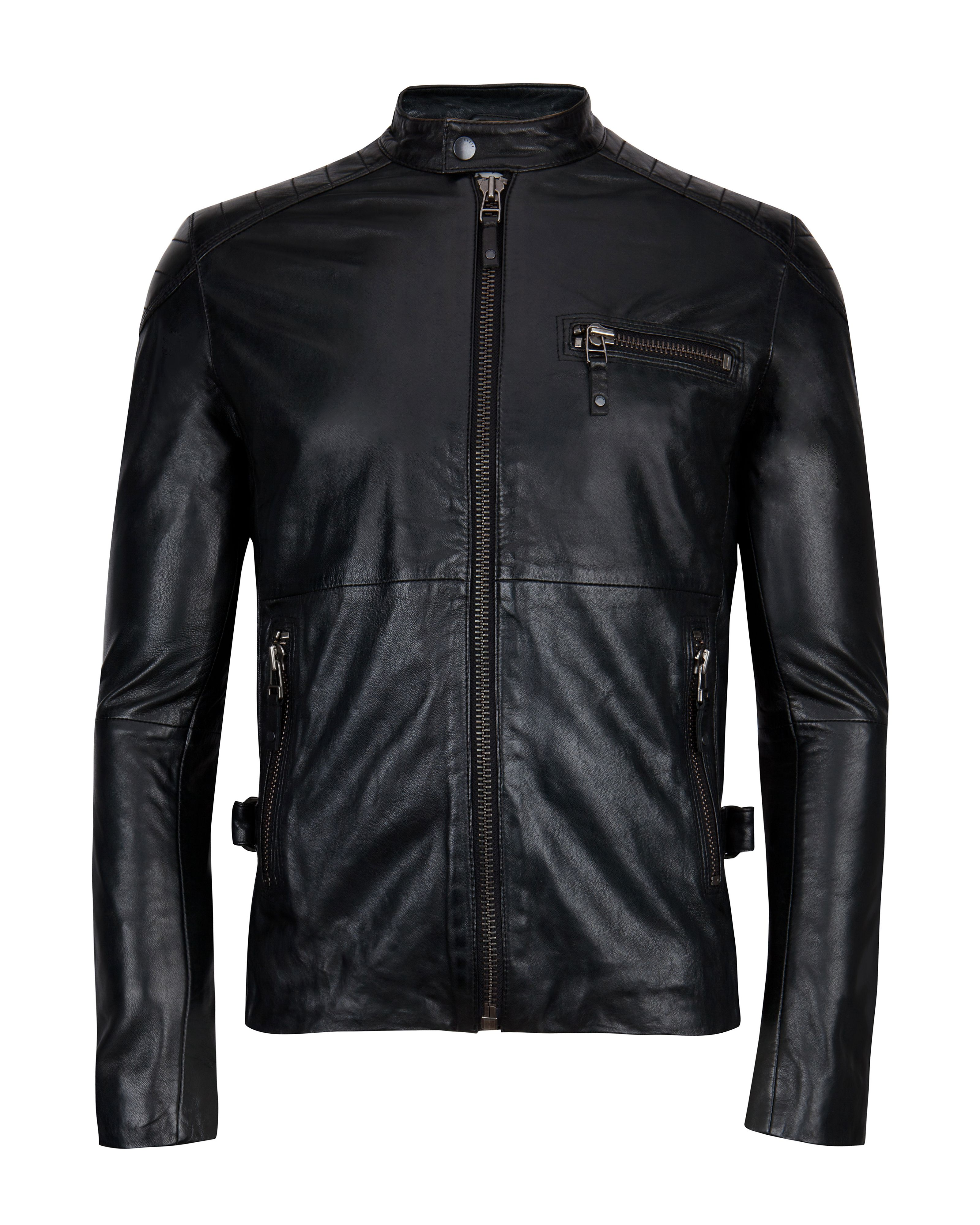 Martell leather biker jacket