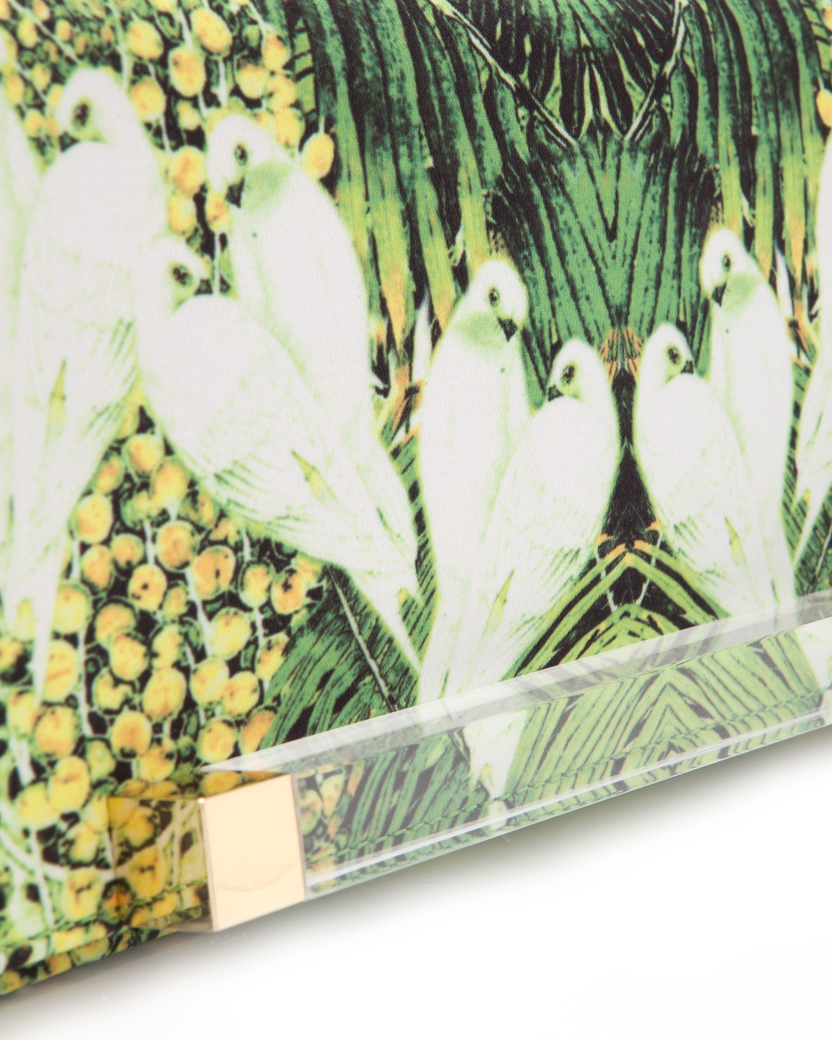 Keraa Tropical dove clutch bag