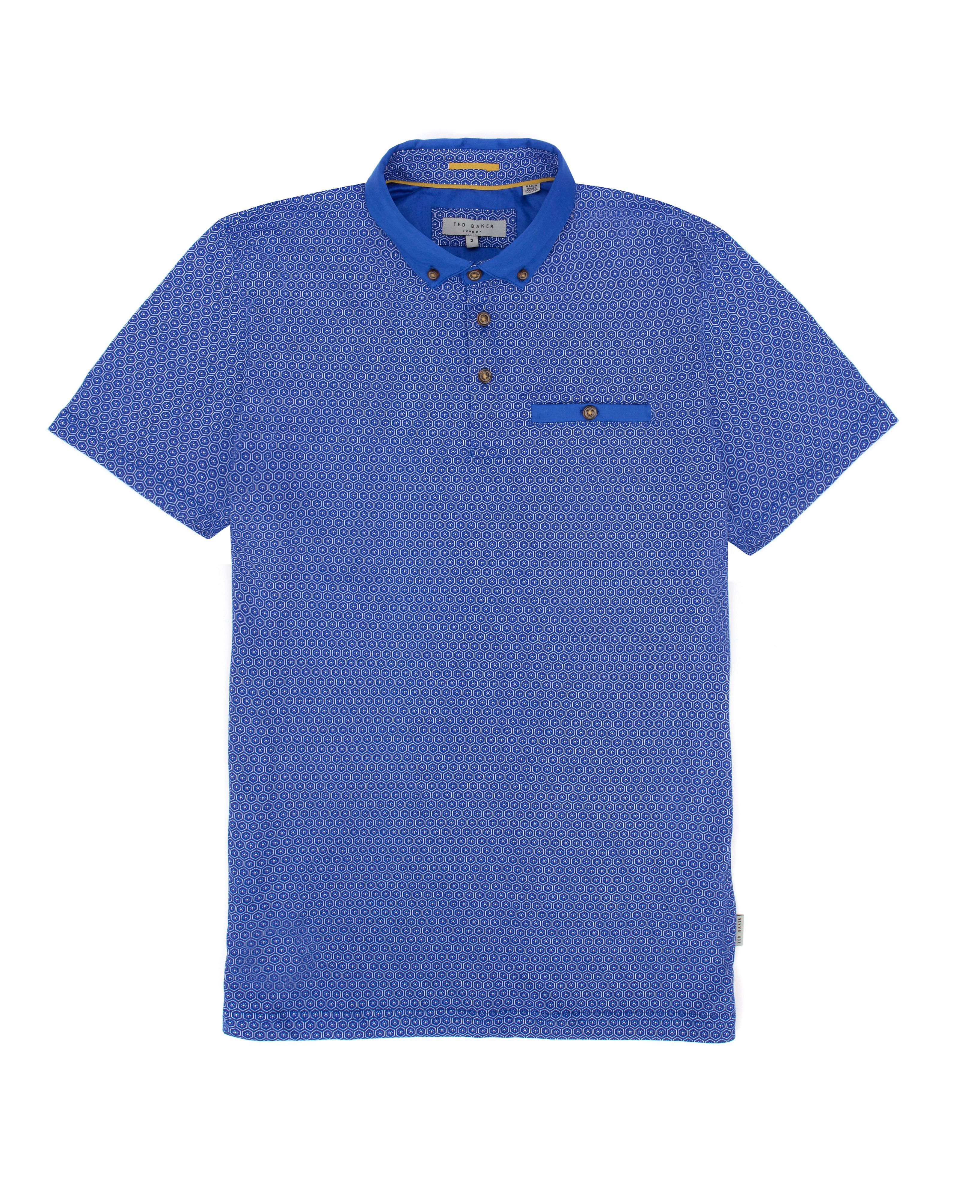 Elwhite short sleeve printed polo
