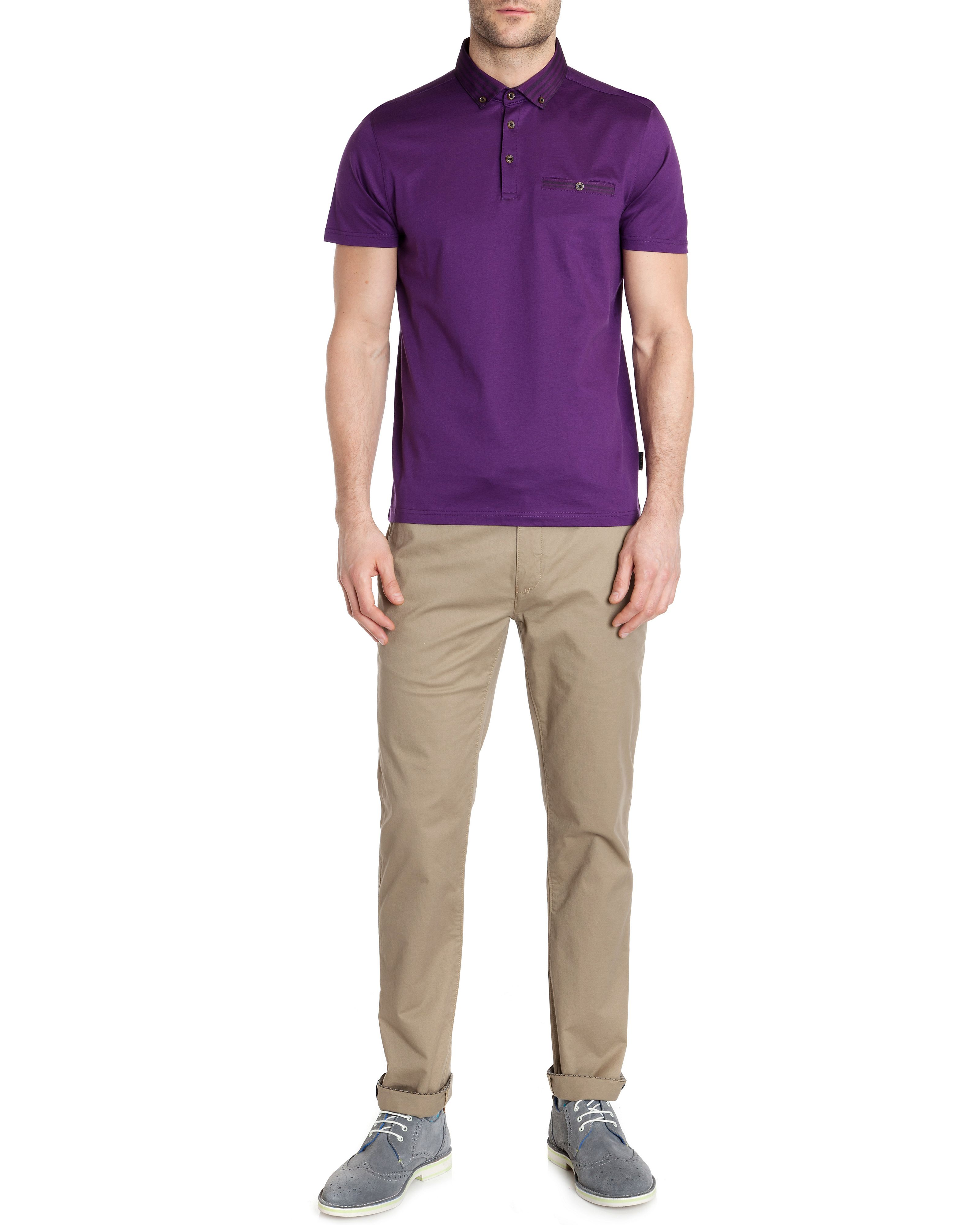 Nugrain grois grain collar polo