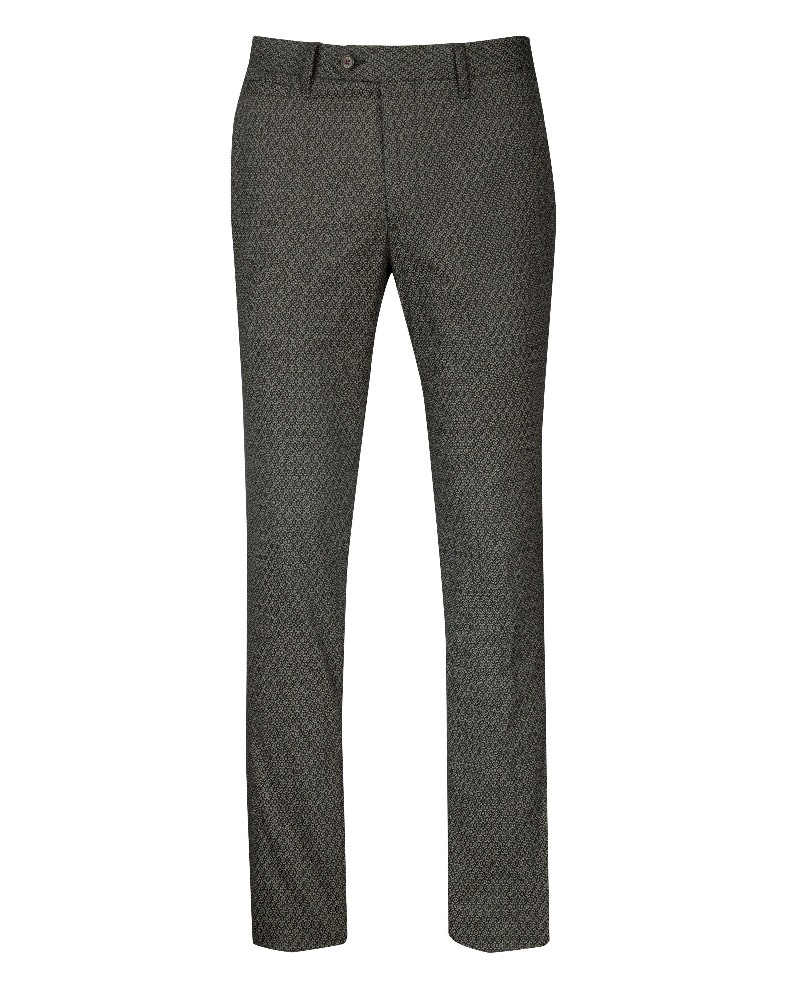 Oaktro printed cotton trouser