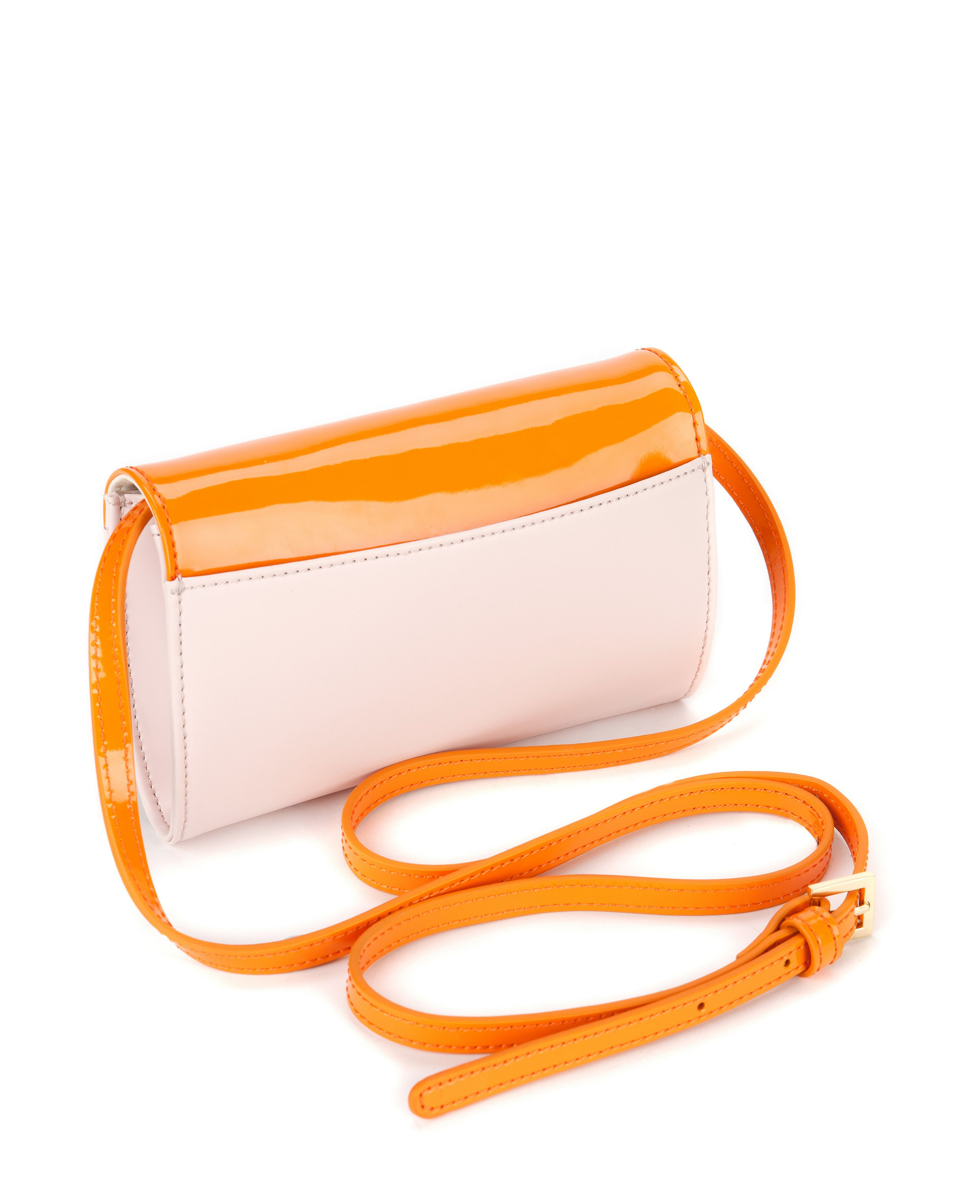 Kinny Leather long strap purse