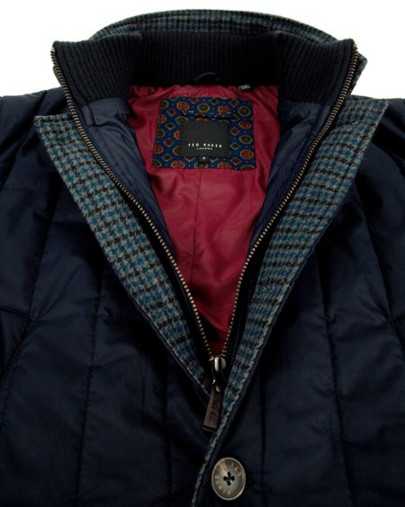 Ted Baker Kereed vertical quilted jacket