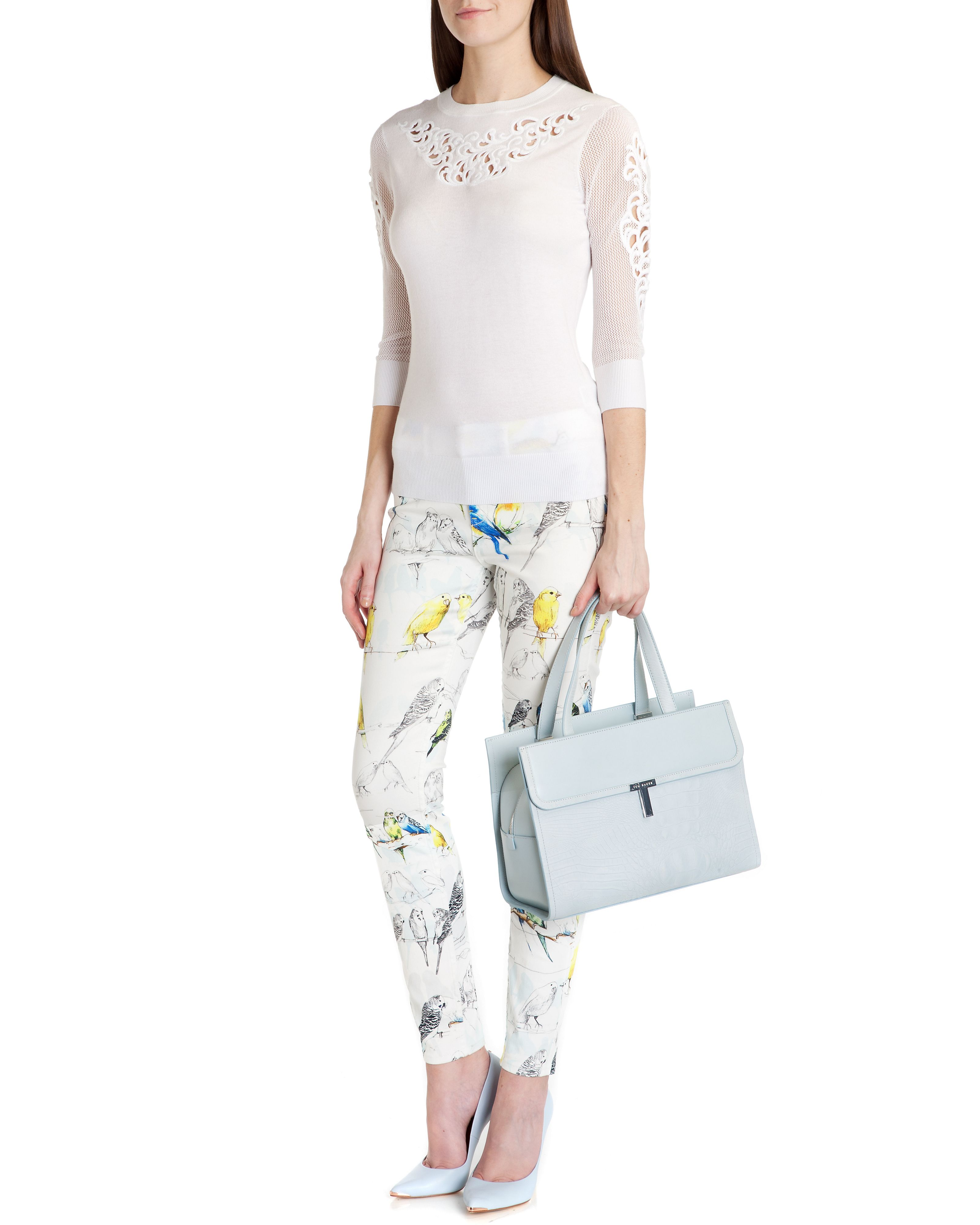 Rosean embroidered lace jumper