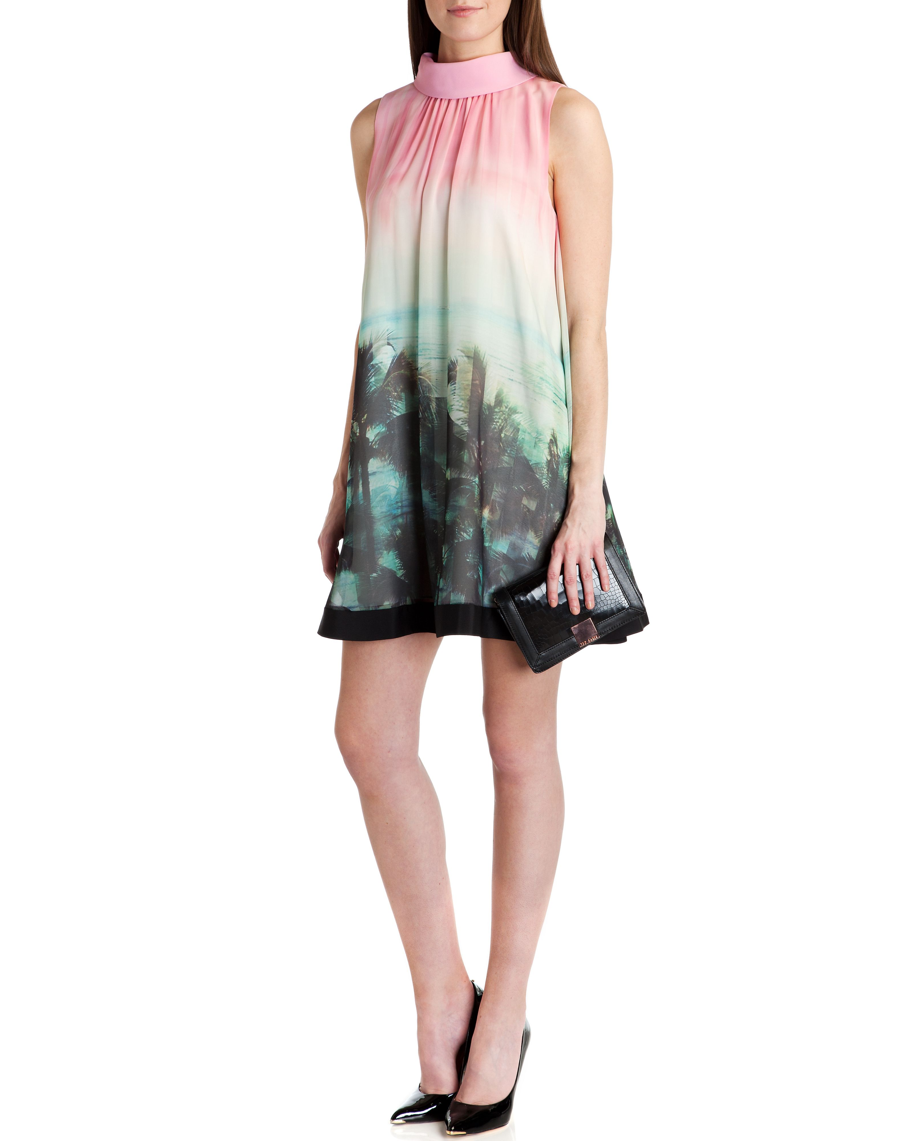 Jescca palm tree printed dress