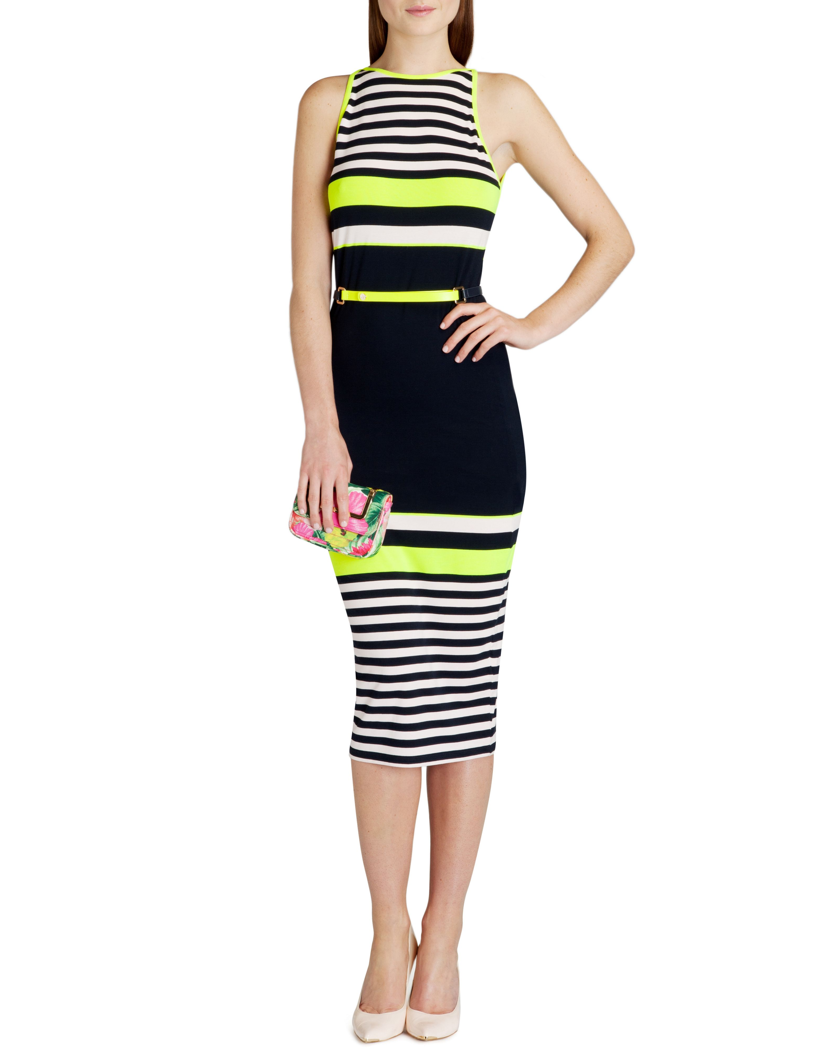 Abiee candy stripe print dress