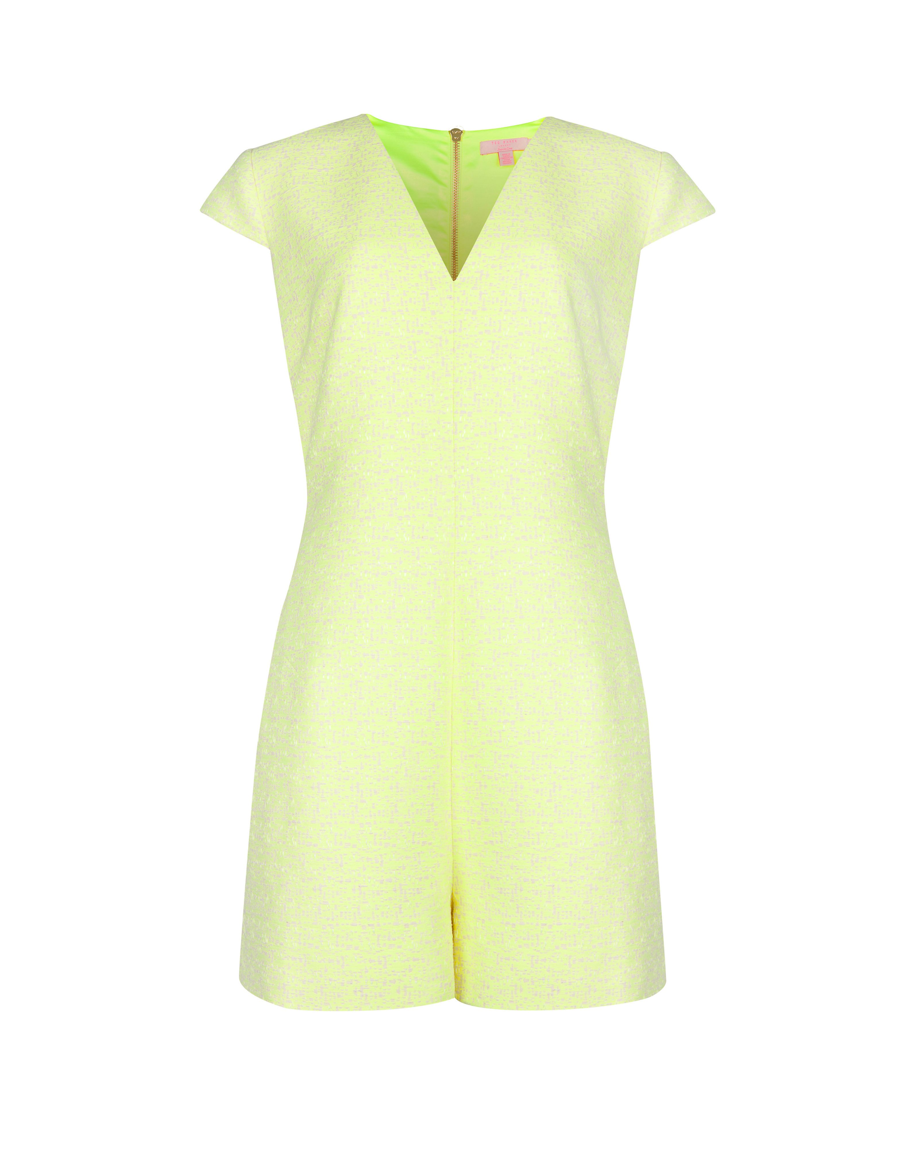 Gwenife textured structured playsuit