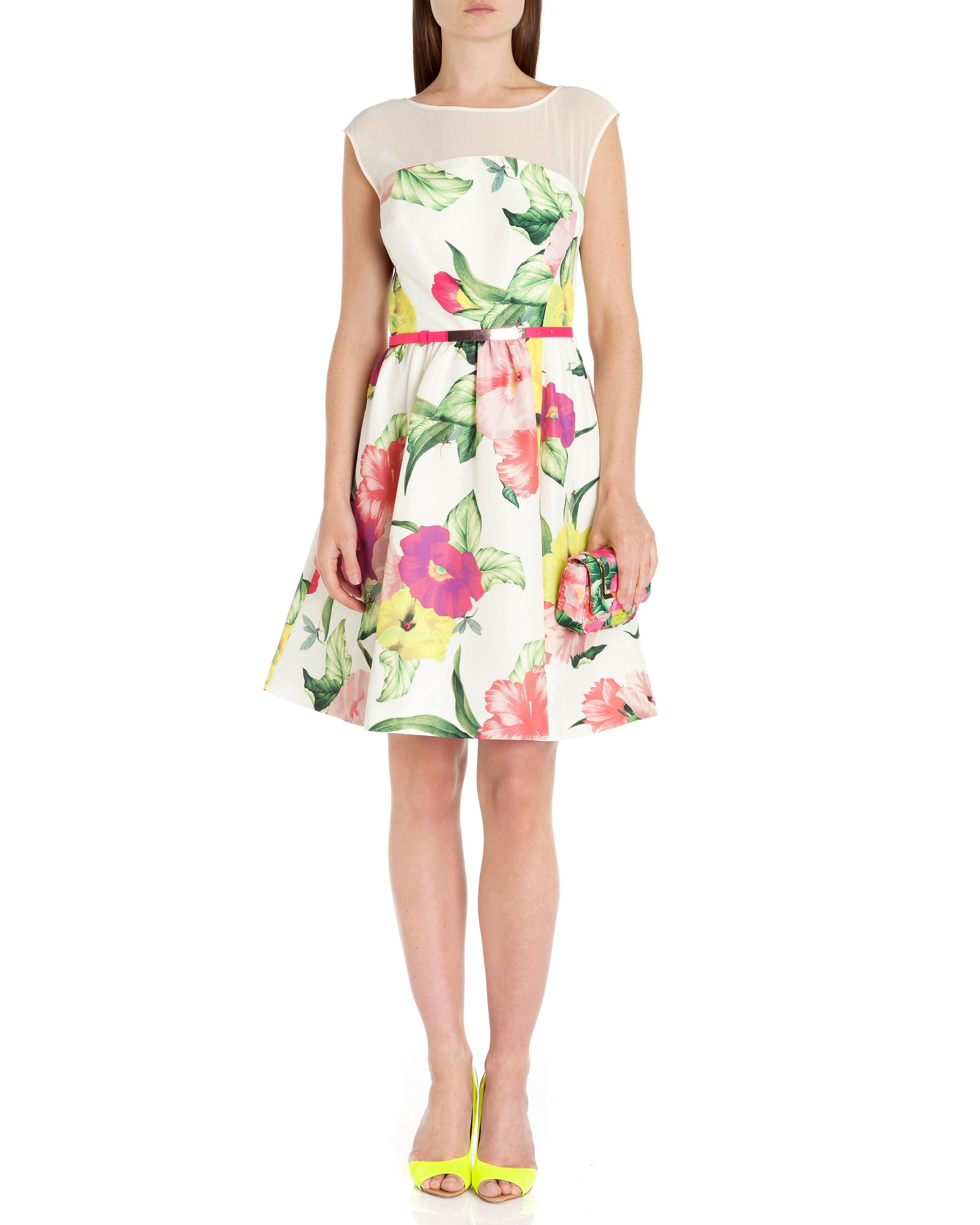 Iberis floral printed dress