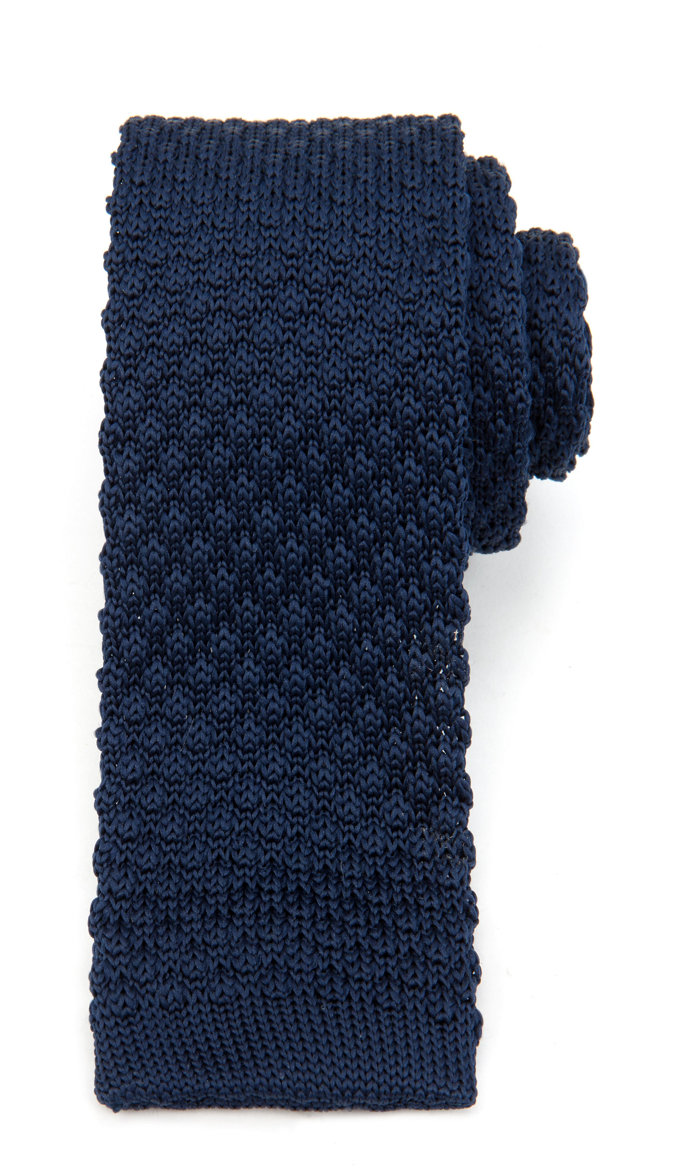 Catalan plain knitted tie