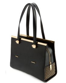 Matokes Studded metal bar tote