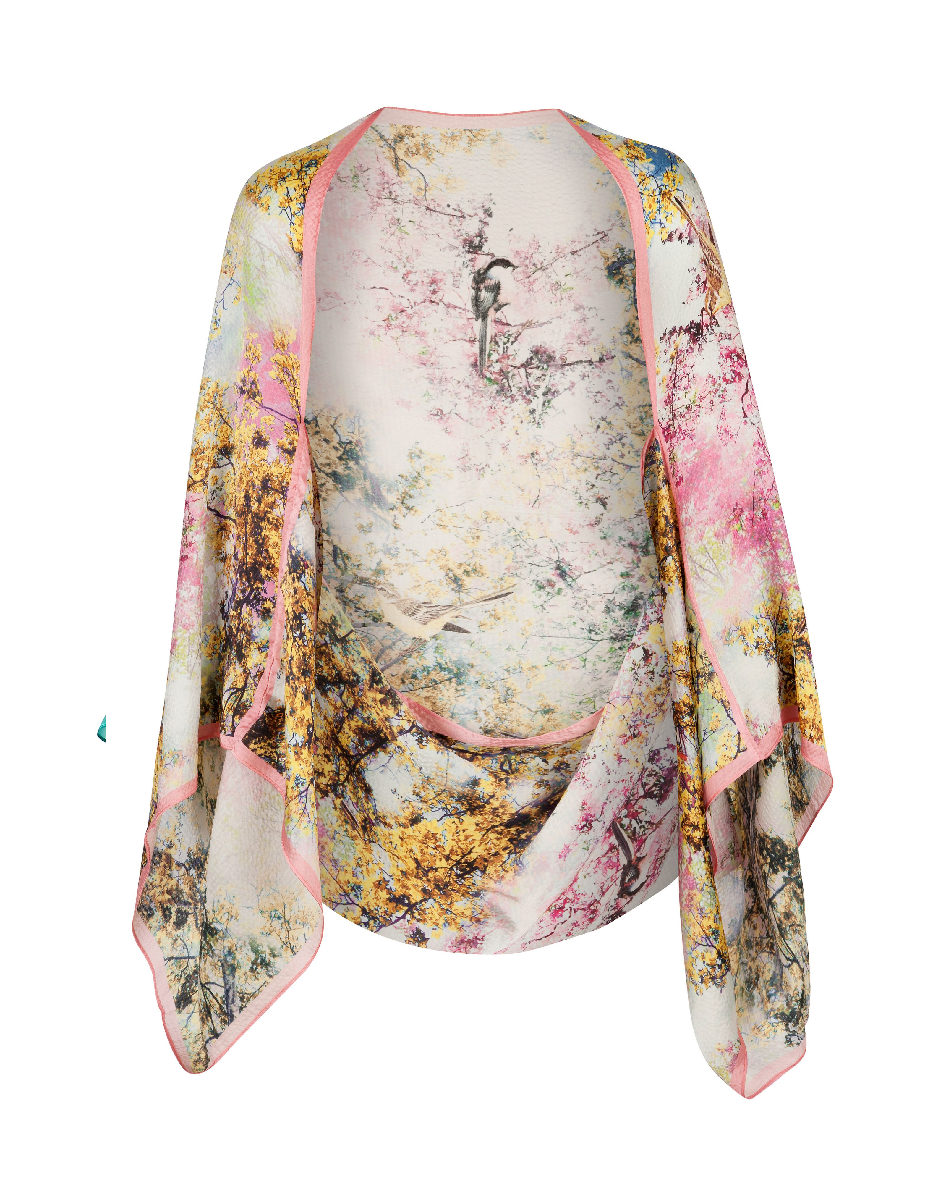 Matia pretty trees cape scarf