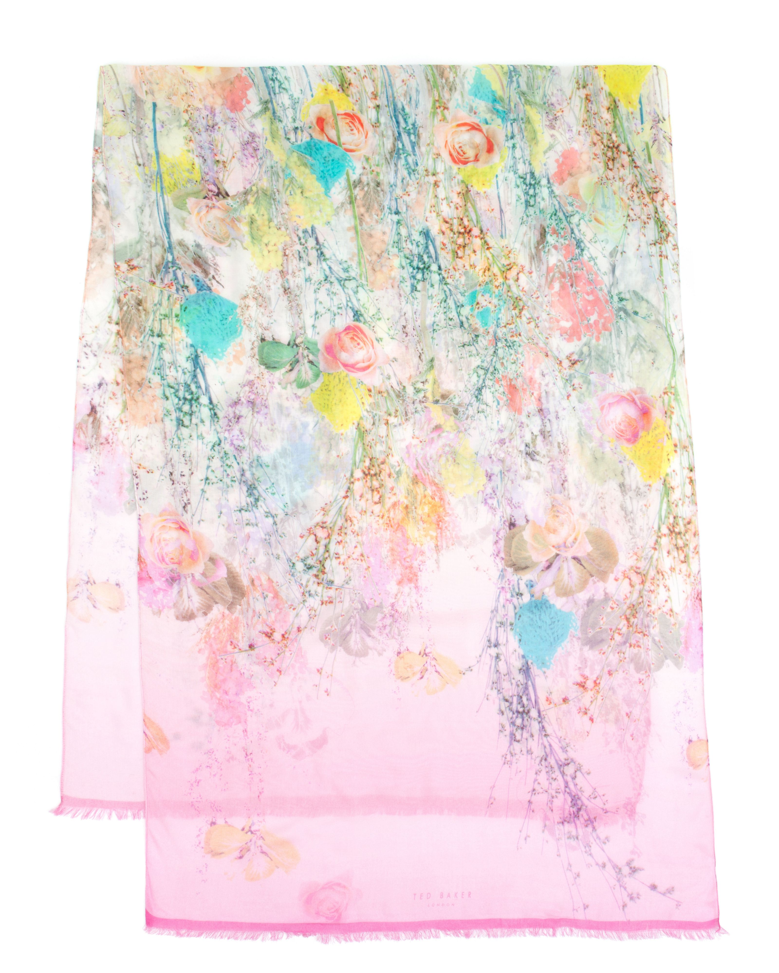 Molash Wispy meadow print scarf