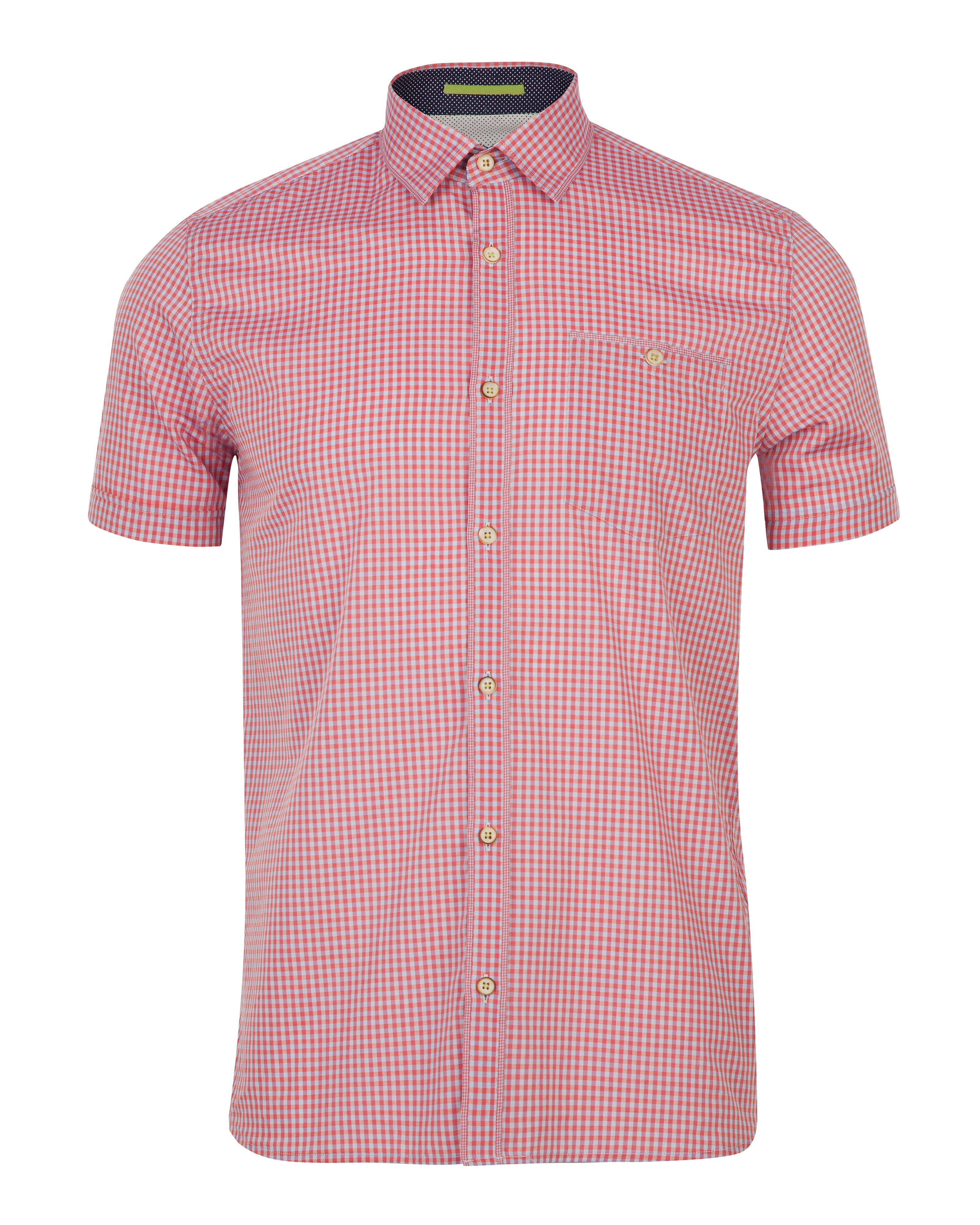 Bremyo checked short sleeve shirt